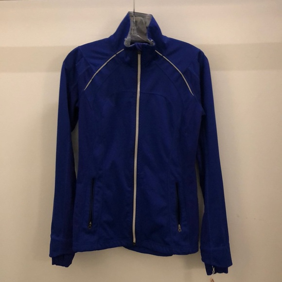 lululemon athletica Jackets & Blazers - Lululemon blue zip up jacket sz 6 72268